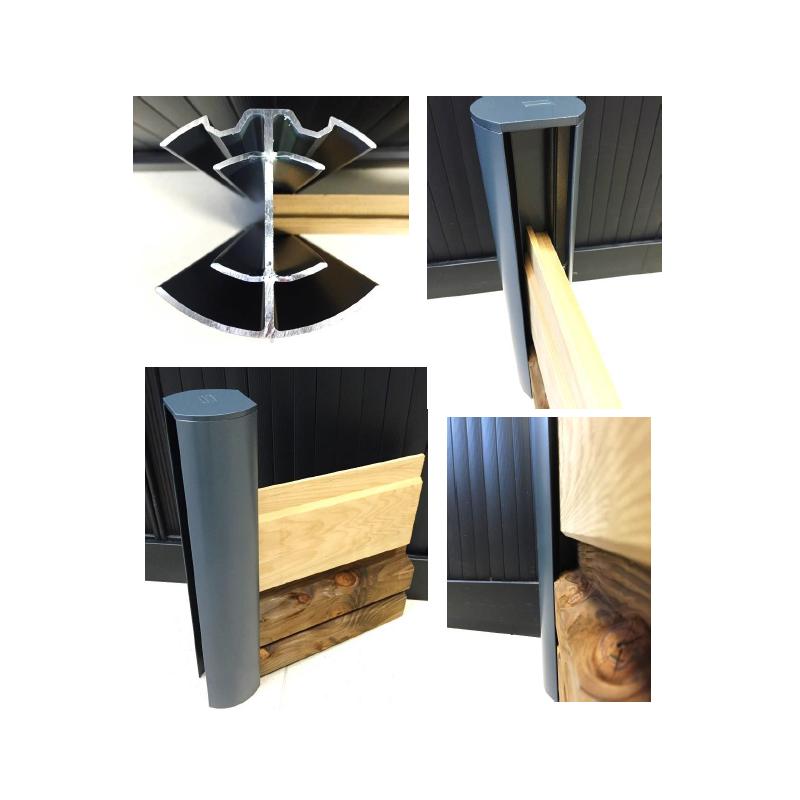 Poteaux aluminium pour cloture idbois for Poteau alu pour veranda